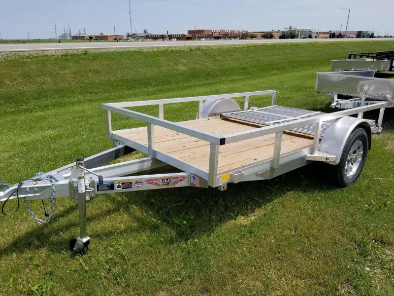 2018 H and H Trailer 66x10 Aluminum Rail Side Utility Trailer