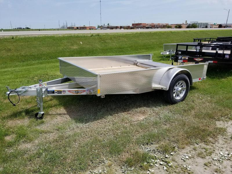 2018 H and H Trailer 76x10 Solid Side Aluminum Utility Trailer