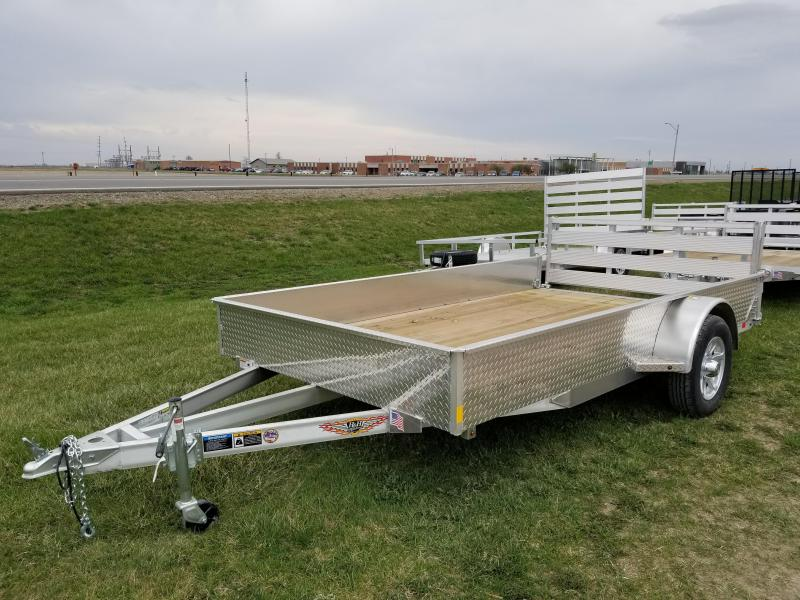2018 H and H Trailer 82x12 Aluminum Solid Side Utility Trailer