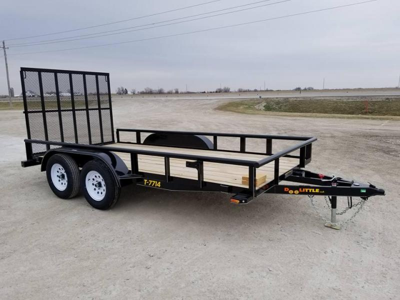 2018 Doolittle Trailer Mfg PT77x14 Tandem Axle Utility Trailer