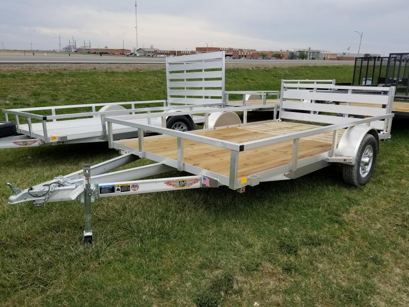 2018 H and H Trailer 82x12 Aluminum Railside Utility Trailer