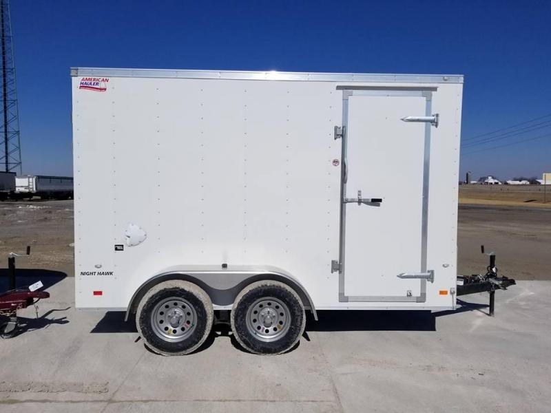 2018 American Hauler Industries 6x12 Night Hawk Tandem Axle Enclosed Cargo Trailer