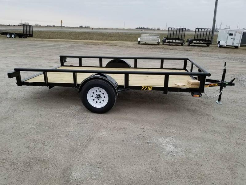 2018 Doolittle Trailer Mfg PT77x12 Single Axle Tilt Bed Utility Trailer