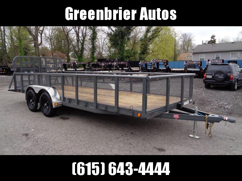 "2019 PJ Trailers 20' x 83"" Tandem Axle Channel Utility (UL)"