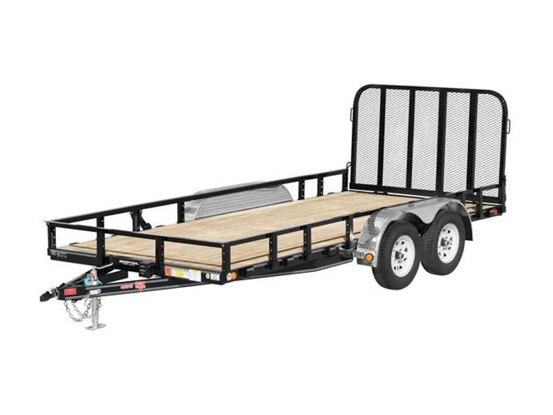 "2019 PJ Trailers 18' x 83"" Tandem Axle Channel Utility (UL)"