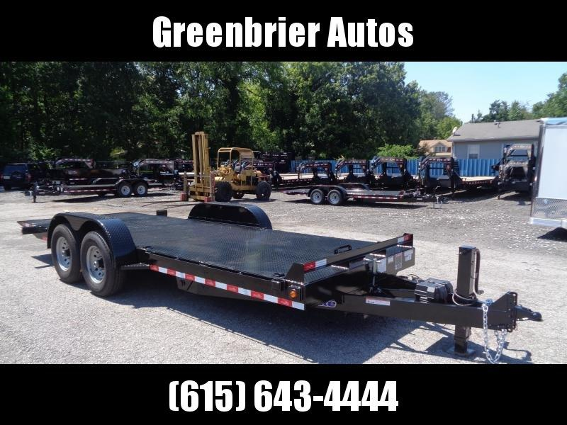 2019 Hawke Trailers 20' 15K GVWR HD Power Tilt Equipment Trailer