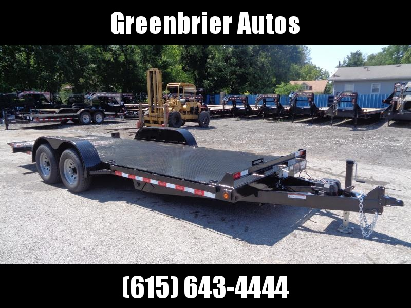 2019 Hawke Trailers 20' 10K GVWR Standard Power Tilt Equipment Trailer