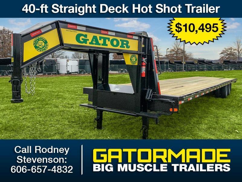 2017 gatormade trailers 40 ft straight deck hot shot trailer over2017 gatormade trailers 40 ft straight deck hot shot trailer