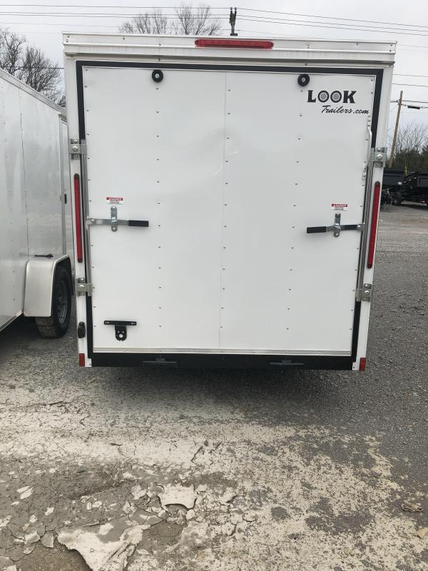 2018 Look 3K 6' x 12' Element VNose Cargo Trailer