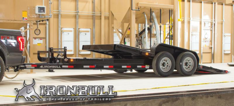 "2018 Iron Bull 5.2K 83"" x 20' Tilt Equipment Low Pro Trailer"