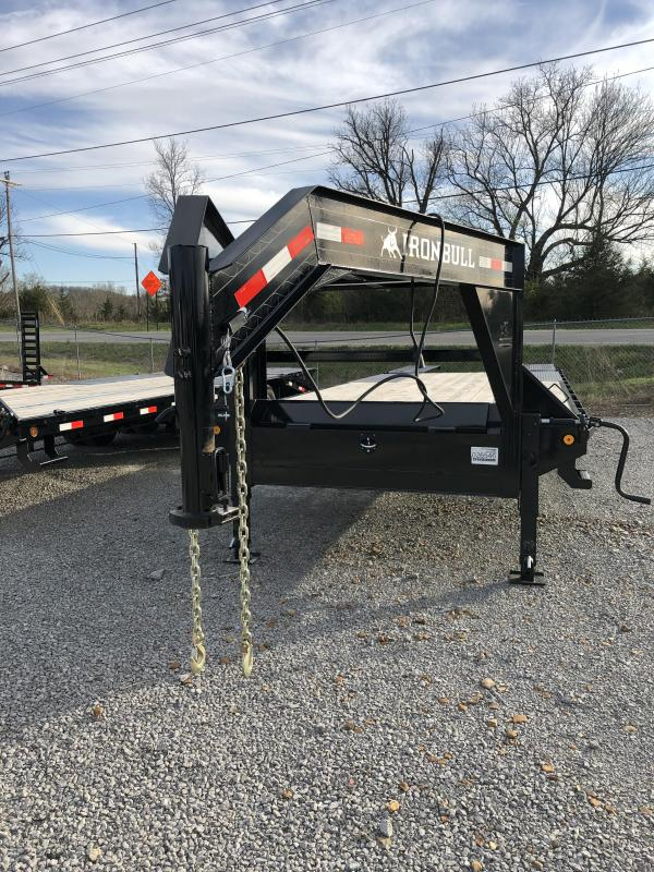 2019 Iron Bull 7K 20 + 5' Gooseneck Deckover Equipment Trailer
