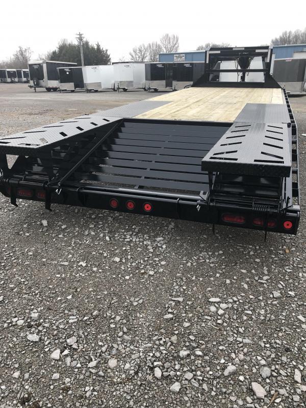 2019 Iron Bull 7K 20 + 5' Gooseneck Deckover Equipment Trailer