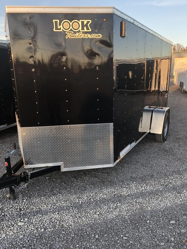 2019 Look 3K 6' x 12' Element VNose Cargo Trailer