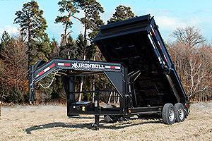 """2018 Iron Bull 7K 83"""" x 16' Gooseneck Dump Trailer"""