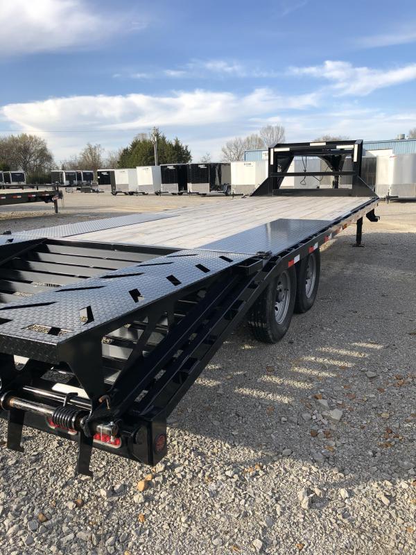 2019 Iron Bull  14K 20'+5' GN Deckover Equipment Trailer