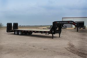 2018 Iron Bull 10K 20' + 5' Dove Equipment Trailer Gooseneck