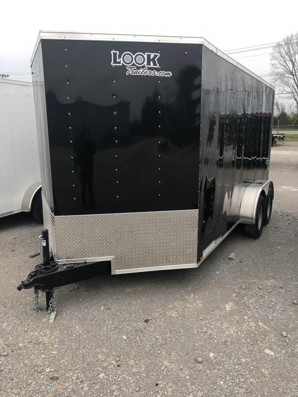 2018 Look 3.5K 7' x 14' Element VNose Cargo Trailer