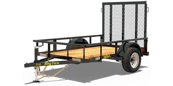 2019 5x8 Big Tex Trailers 30SA-08 Utility Trailer