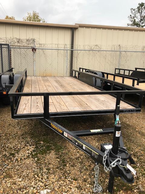 2018 Carry-On 6X16GW1BRK 7000 lbs. GVWR 6 ft. Tandem Wood Floor Utility Trailer