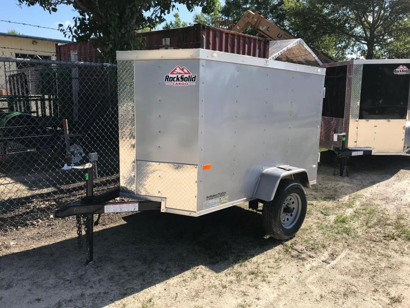 2019 4x6 Rock Solid Cargo SA VN Enclosed Cargo Trailer