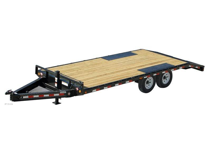 2020 8x18+3 PJ Trailers 8 in. I-Beam Deckover (F8) Flatbed Trailer