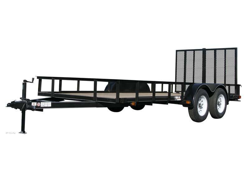2018 6.4x16 Carry-On 6X16GW1BRK - 7000 lbs. GVWR 6 ft. Tandem Wood Floor Utility Trailer