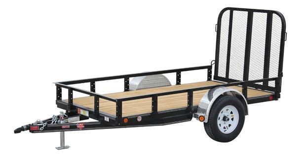 2020 5x10 PJ Trailers 60 in. Single Axle Channel Utility (U6) Utility Trailer