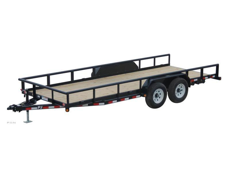 2019 6.1x22 PJ Trailers Angle Pipetop (P8) Equipment Trailer