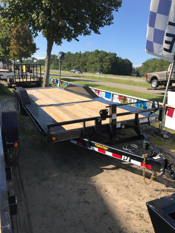 2019 8.5x24  PJ Trailers Tilt Equipment Trailer in Poplarville, MS