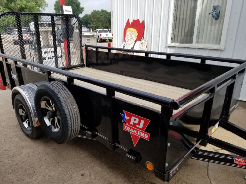 2018 PJ Trailers 12' x 77 in. Single Axle Channel Utility (U7) Utility Trailer
