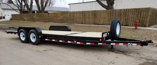 2019 PJ Trailers 22' x 6 in. Channel Equipment Tilt (T6) Equipment Trailer