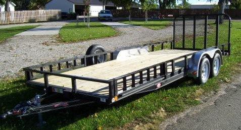 2019 PJ Trailers 20' x 83 in. Tandem Axle Channel Utility (UL) Utility Trailer