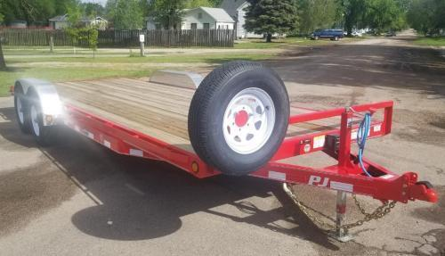 2019 PJ Trailers 22' x 5 in. Channel Equipment (CE) Equipment Trailer
