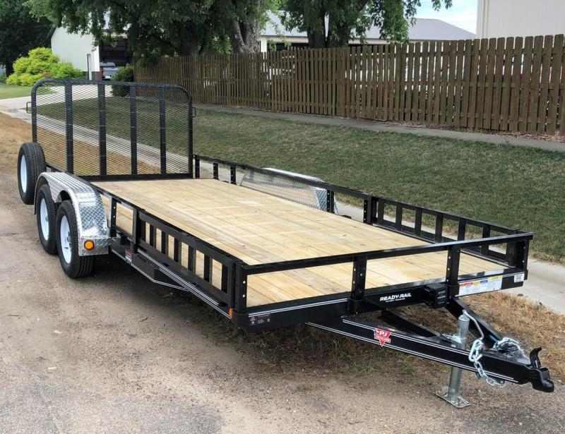 2020 PJ Trailers 18' x 83 in. Tandem Axle Channel Utility (UL) Utility Trailer