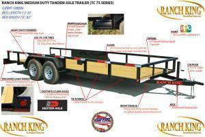 "2019 Ranch King 12'X6'10"" Utility Trailer   ******HAVE EVERY SIZE YOU MAY NEED IN STOCK******"