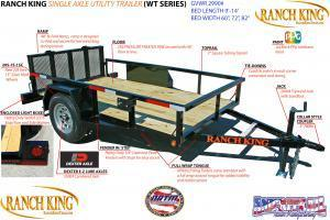 2018 Ranch King 6'X12' Utility Trailer   ******HAVE EVERY SIZE YOU MAY NEED IN STOCK******  in Ashburn, VA