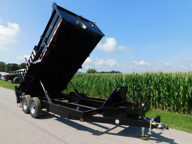 2017 Quality Steel and Aluminum 83 x 16 Dump Trailer