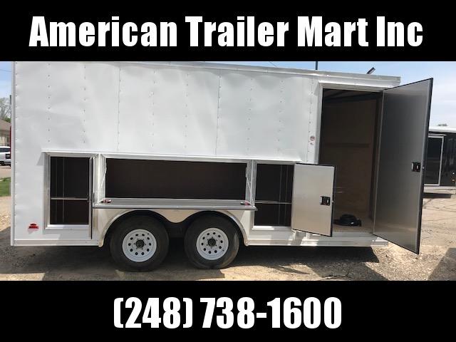 8.5 X 16 Tandem Axle Enclosed Tool Box Trailer
