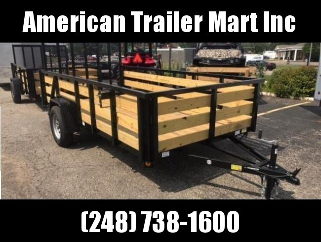 "82"" X 12 Single Axle Open Utility Trailer"