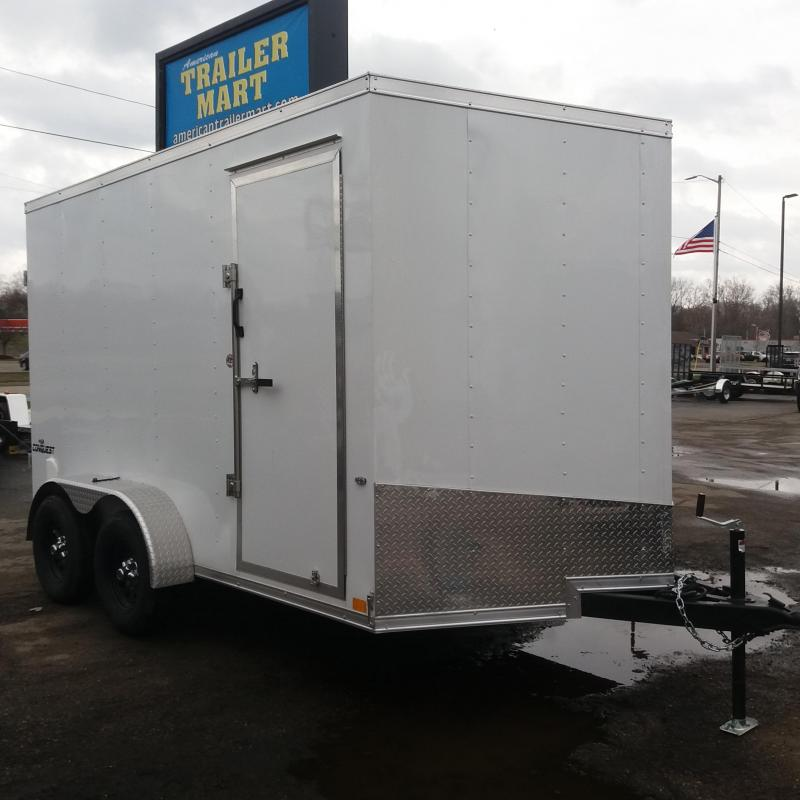 7 X 12 Tandem Axle Enclosed Trailer