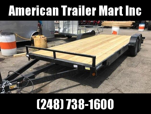 83 X 18 Open Car Hauler/Flatbed Trailer
