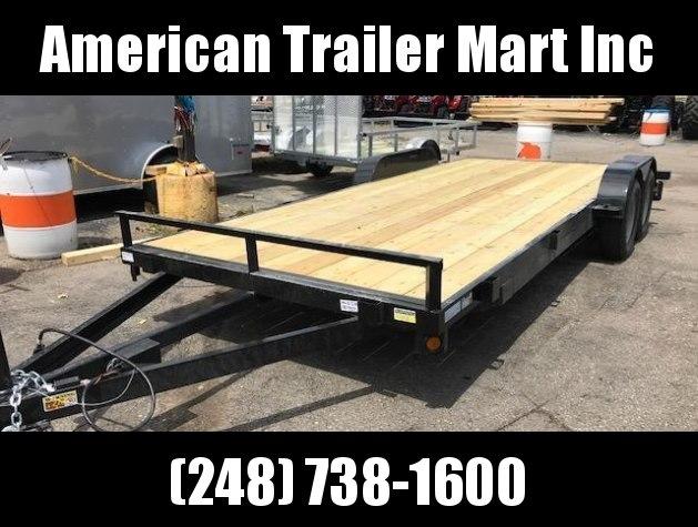 83 X 18 Open Car Hauler/Flatbed Trailer