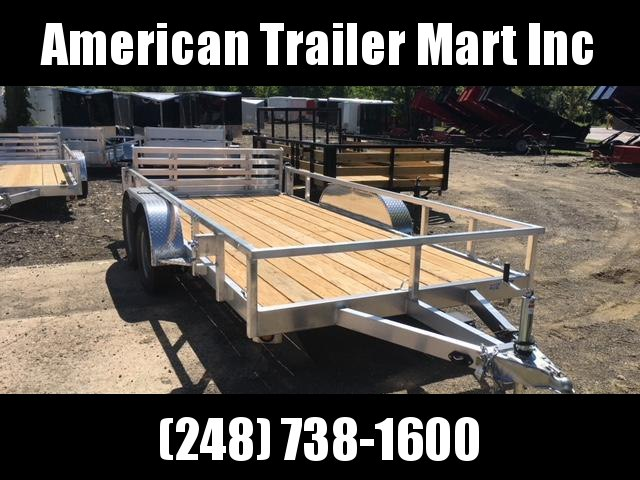 6.5 X 14 Open Tandem Axle Utility Trailer