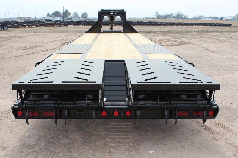 102 x 24 Open Gooseneck Deckover Equipment Trailer 14K