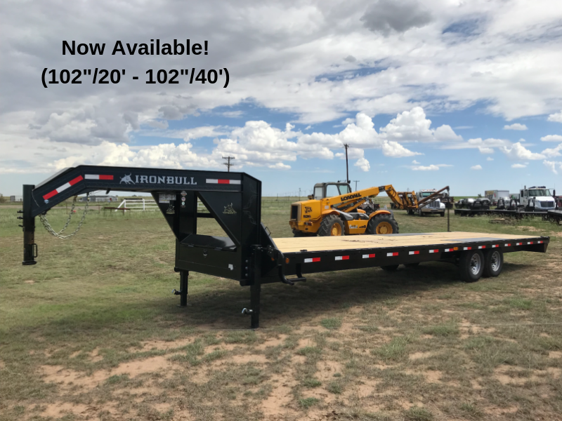 102 x 24 Open Gooseneck Deckover Equipment Trailer 14K