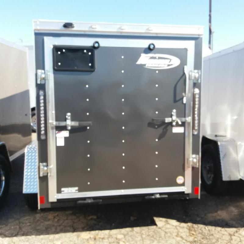 5 X 8 Single Axle Enclosed Trailer