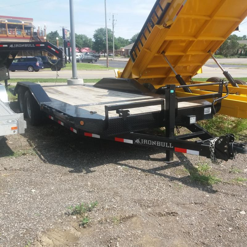 83 X 20 IRON BULL Tilt Low Pro Equipment Trailer 14K