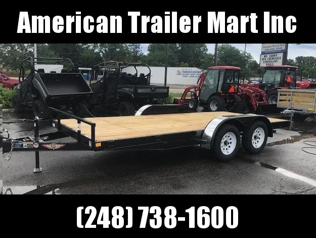 "82"" X 16  Open Car Hauler / Flatbed Trailer"