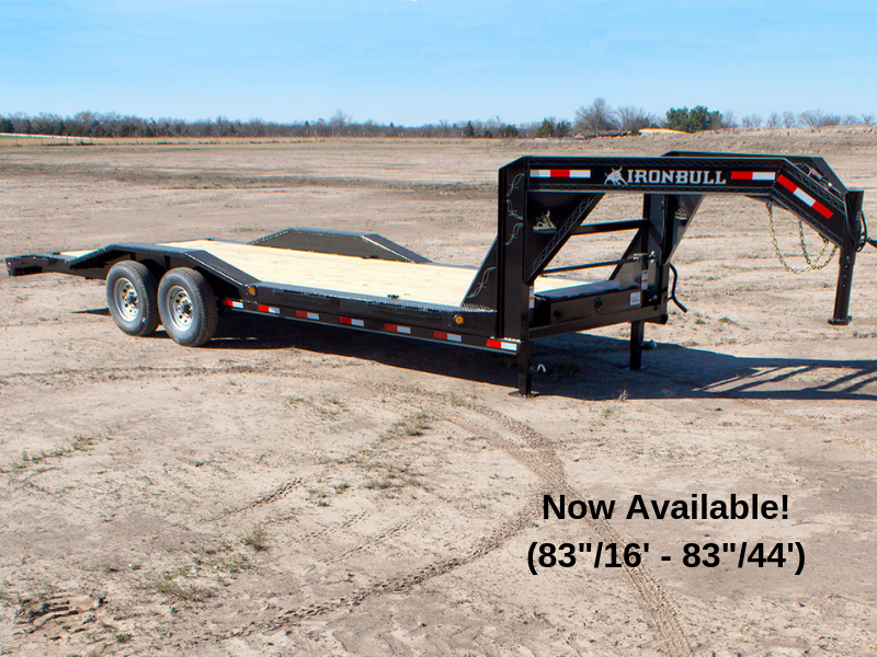 102 x 20 IRON BULL Open Gooseneck Equipment Trailer 14K