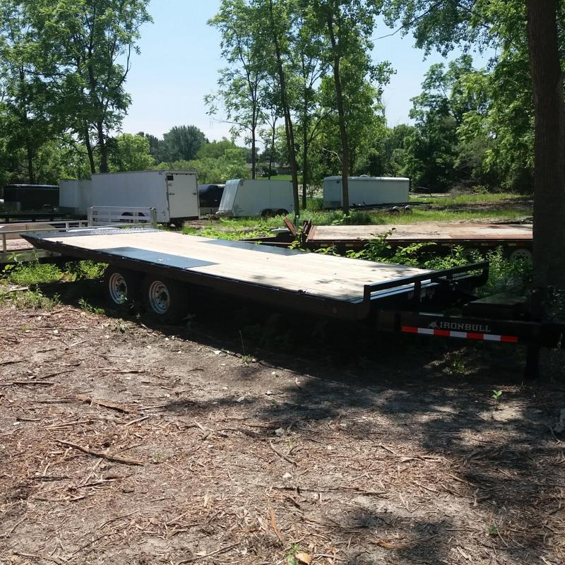 102 X 22 IRON BULL Deckover Tilt Equipment Trailer 14K